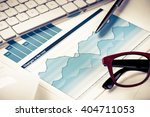 preparing average sales report | Shutterstock . vector #404711053