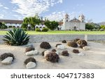 the spanish historic mission... | Shutterstock . vector #404717383