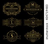 monogram design elements ... | Shutterstock .eps vector #404719483
