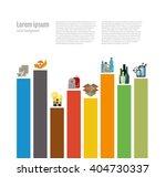 garbage sorting flat concept.... | Shutterstock .eps vector #404730337