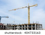 huge crane and construction... | Shutterstock . vector #404733163