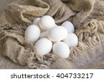 close up white eggs on a brown... | Shutterstock . vector #404733217