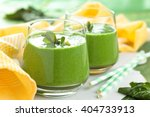 spinach smoothie with mint... | Shutterstock . vector #404733913