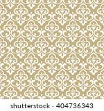 Stock vector floral pattern wallpaper baroque damask seamless vector background white and gold ornament 404736343
