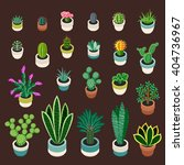 big set of cactuses and... | Shutterstock .eps vector #404736967