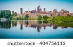 Small photo of Beautiful panoramic view of the historic city of Mantua in Lombardy, Italy