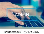 Small photo of Technology Concept: ADMIN