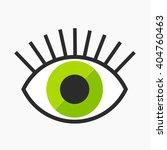 abstract green eye symbol....