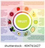 healthy lifestyle infographic... | Shutterstock .eps vector #404761627