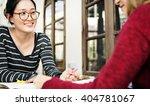 analysing casual friends girls...   Shutterstock . vector #404781067