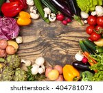 collection of mixed organic... | Shutterstock . vector #404781073