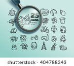 travel set icons sketch style | Shutterstock .eps vector #404788243
