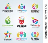 logo set for kids and family ... | Shutterstock .eps vector #404795473