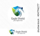 eagle shield security logo  ... | Shutterstock .eps vector #404796277