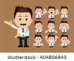 cute set   set of businessman | Shutterstock .eps vector #404806843