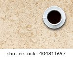 close up white coffee cup on... | Shutterstock . vector #404811697