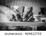 man hands working in furniture... | Shutterstock . vector #404812753