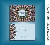 oriental business card mockup... | Shutterstock .eps vector #404813923