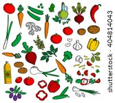 salad ingredients icon with... | Shutterstock .eps vector #404814043
