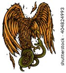 illustration of eagle fight...   Shutterstock .eps vector #404824993