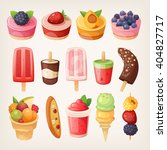 set of delicious sweets and... | Shutterstock .eps vector #404827717