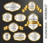 luxury premium labels set...   Shutterstock .eps vector #404828617
