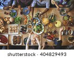 brunch choice crowd dining food ... | Shutterstock . vector #404829493
