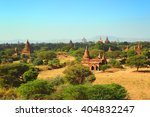landscape with temples in bagan ... | Shutterstock . vector #404832247