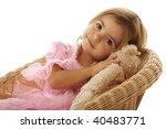 cute little girl with her toy... | Shutterstock . vector #40483771