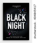 black night  musical party... | Shutterstock .eps vector #404845417