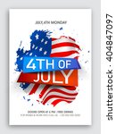 stylish text 4th of july on... | Shutterstock .eps vector #404847097