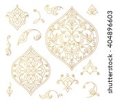 vector set of vintage golden... | Shutterstock .eps vector #404896603