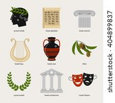 set of vector images on the... | Shutterstock .eps vector #404899837