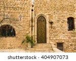 metal yellow  stamping door on ...   Shutterstock . vector #404907073