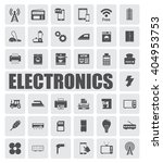 electronics icons set | Shutterstock .eps vector #404953753