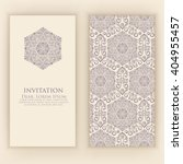 invitation or wedding card with ... | Shutterstock .eps vector #404955457