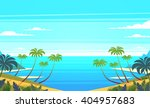 tropical landscape. vector... | Shutterstock .eps vector #404957683