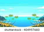tropical landscape. vector... | Shutterstock .eps vector #404957683