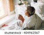 good morning  woman woke up in... | Shutterstock . vector #404962567
