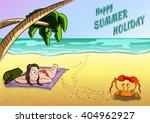 summer holiday vector... | Shutterstock .eps vector #404962927