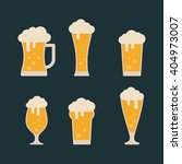 lager beer icon. glass with... | Shutterstock .eps vector #404973007