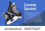 ice skates isometric flat... | Shutterstock .eps vector #404973637