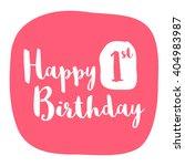 happy first birthday card ... | Shutterstock .eps vector #404983987