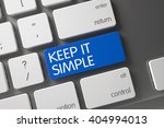 blue keep it simple button on... | Shutterstock . vector #404994013