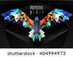 abstract polygonal bird.... | Shutterstock .eps vector #404994973