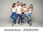 group of young beautiful people ... | Shutterstock . vector #405001003