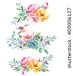 Colorful Floral Collection Wit...
