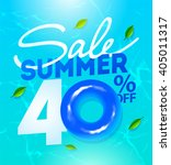 40th  off summer sale template... | Shutterstock .eps vector #405011317