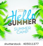 hello summer holiday and summer ... | Shutterstock .eps vector #405011377