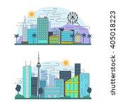 flat line design graphic image... | Shutterstock .eps vector #405018223